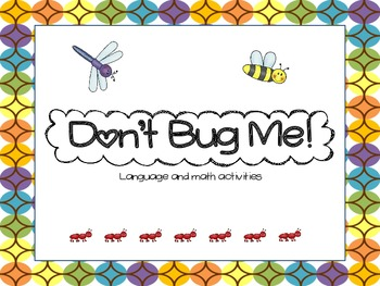 Insect Language and Math Unit