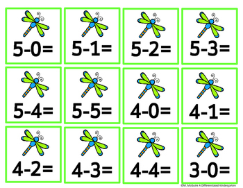 Don't Bug Me-Number Line Fun for Addition/Subtraction-Differentiated & Aligned