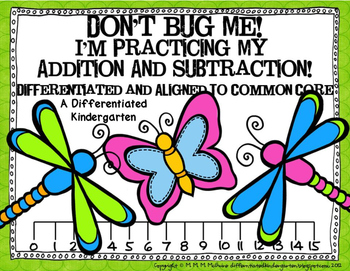 Don't Bug Me-Number Line Fun for Addition/Subtraction-Diff