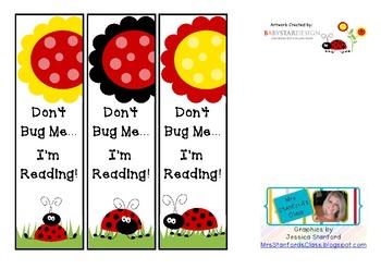 Don't Bug Me...I'm Reading Bookmarks