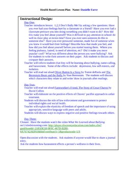 Don't Bully Me!: ELD reading/creative writing assignment
