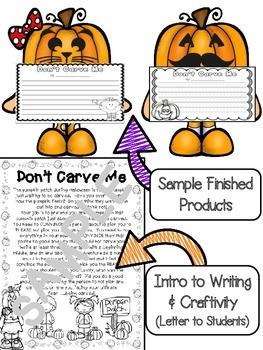 Don't Carve Me Pumpkin Opinion/Persuasive Writing & Craftivity (CCSS)