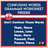 Confusing Words Grammar Worksheets