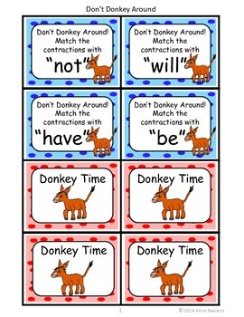 Don't Donkey Around Contractions