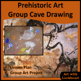 Prehistoric Art Group Cave Drawing