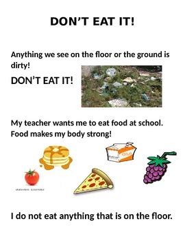 Don't Eat It! Social Story