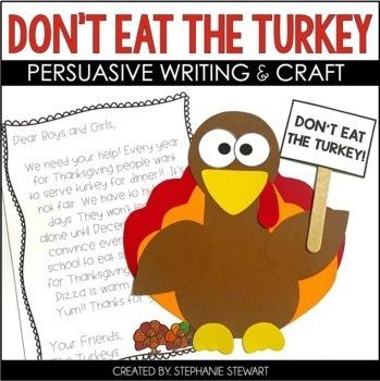 Turkey Craft | Don't Eat The Turkey (Thanksgiving Writing & Craft)