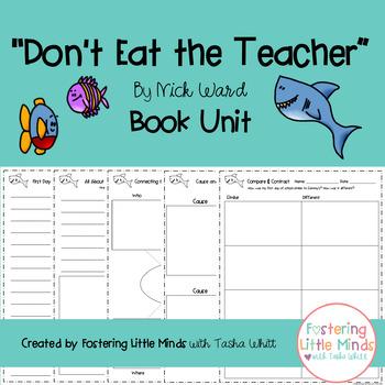 """""""Don't Eat the Teacher"""" written by Nick Ward Book Unit"""