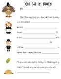Don't Eat the Turkey Persuasive Writing