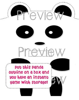 Don't Feed the Panda! - A 1-30 Number Identification Math Game or Center
