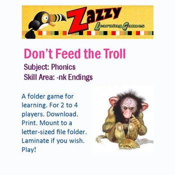 Don't Feed the Troll Folder Game for -nk Endings