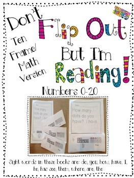 Don't Flip Out But I'm Reading-Ten Frame/Math Version