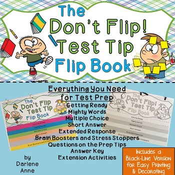 TEST TIPS/ TEST PREP FLIPBOOK FOR MIDDLE SCHOOL ENGLISH