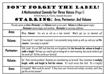 Don't Forget To Label!  A Mathematical Comedy For Three Voices