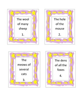 Don't Forget the Apostrophe!  Possessive Nouns Task Cards