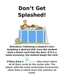 Don't Get Splashed  Card Game