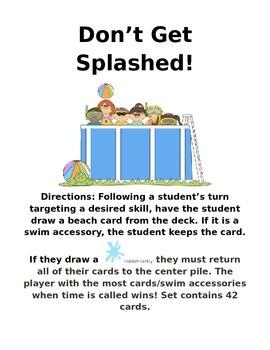 Don't Get Splashed  Card Game