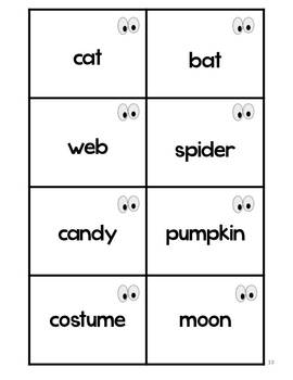 Halloween Literacy Learning Games