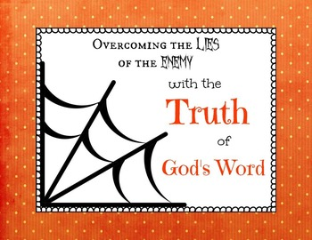 Don't Get Trapped in a Web of Lies Bible Task Cards
