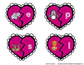 Don't Go Breaking My Heart - Beginning Sounds Puzzles