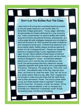 Don't Let Bullies Run The Class: A FREEBIE Story