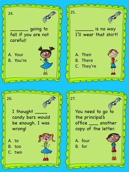 Don't Let Homophones Drive You Batty Task Cards