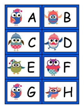 Owl-some ELA Letter Recognition and Word Recognition Game