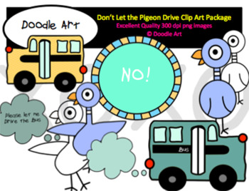 Pigeon Drives the Bus Clipart Pack