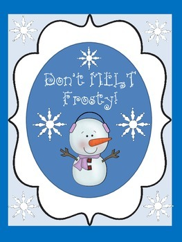 Don't MELT Frosty! (A Fun-Filled Winter Game/Activity)