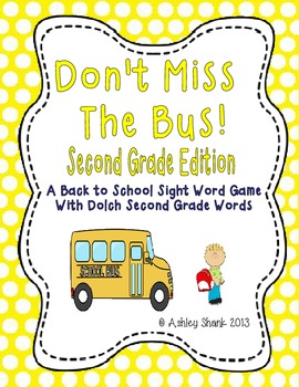 Don't Miss the Bus! A Back to School Sight Word Game - Dol