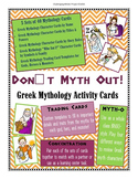 Don't Myth Out! - Greek Mythology Activity Cards