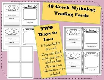 Don't Myth Out! - Greek Mythology Activity Cards