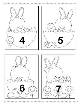 """Don't Peek"" Number Fluency Game for Easter"