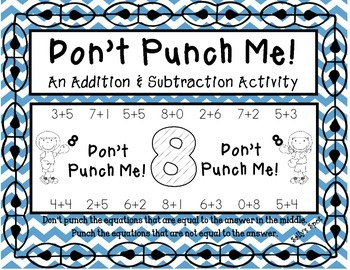 Don't Punch Me! An Addition & Subtraction Activity