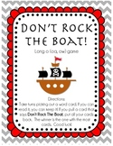 """Don't Rock The Boat!  Long """"o"""" game (oa, ow)"""