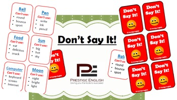 """""""Don't Say It!"""" Game (Easy/Beginner) Taboo"""