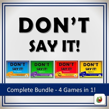Don't Say It! Vocabulary Review Game: COMPLETE Bundle