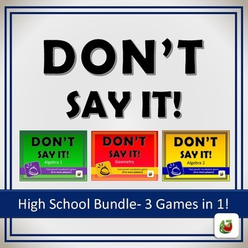 Don't Say It! Vocabulary Review Game: High School Bundle