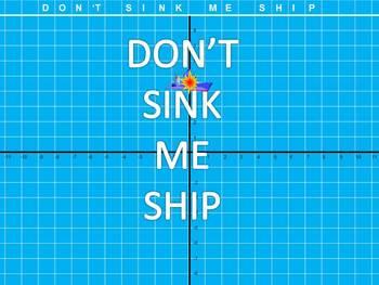 Don't Sink Me Ship