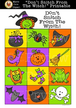 """Don't Snitch From The Witch!"" (Don't Eat Pete) [Marie Cole Clipart]"