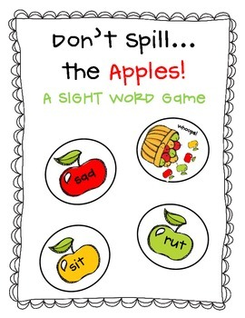 Don't Spill The Apples!  CVC Words Game!