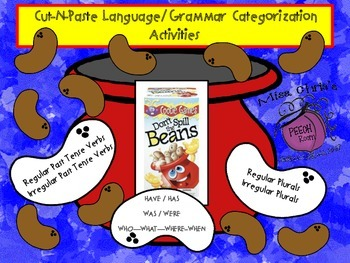 Don't Spill the Beans Grammar/Language Activities FUN!!