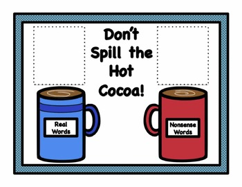 Don't Spill the Hot Cocoa Word Reading Game - CVC Short 'u'