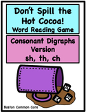 Don't Spill the Hot Cocoa Word Reading Game - Consonant Di