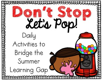 End of the Year Summer Learning Editable