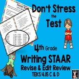 Don't Stress the Test! Revise & Edit STAAR Review