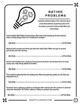 Speech Therapy Social Skills  for Older Students - Prioritizing Problems