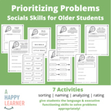 Speech Therapy Social Skills  for Older Students - Priorit