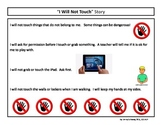 """""""Don't Touch"""" Social Story and Cue Cards"""