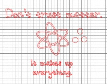 Don't Trust Matter Chemistry Humor {Silhouette Cut File}